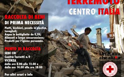 Raccolta beni di prima necessità per terremoto Centro Italia