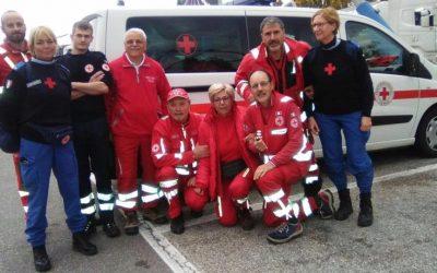 Personale CRI Vicenza partito per zone terremotate