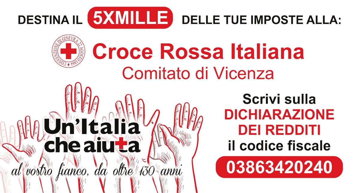 Dona il tuo 5x1000 a Croce Rossa Italiana Comitato di Vicenza